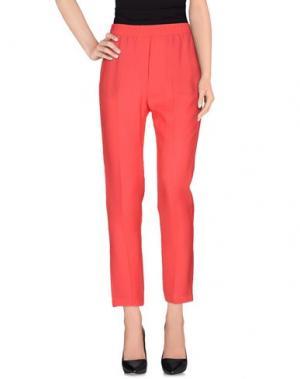 Повседневные брюки 8PM. Цвет: коралловый
