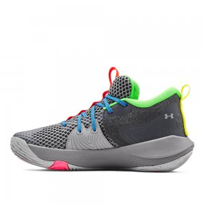 Embiid One Gamer Night Basketball Shoes Under Armour. Цвет: серый