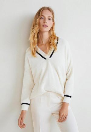 Пуловер Mango - VERSI. Цвет: белый