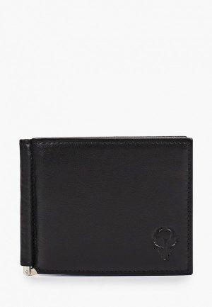 Зажим для купюр D.Morelli Black D.Morelli, 11х8.5 см. Цвет: черный