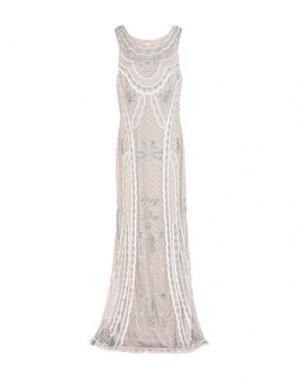 Длинное платье ELLA LUNA. Цвет: светло-серый