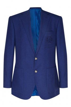Синий пиджак Stefano Ricci. Цвет: синий