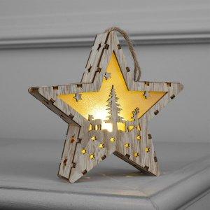 Фигура деревянная звезда Luazon Lighting