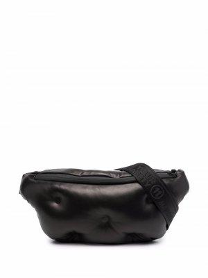 Поясная сумка Glam Slam Maison Margiela. Цвет: черный