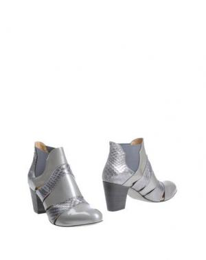 Полусапоги и высокие ботинки INK. Цвет: серый