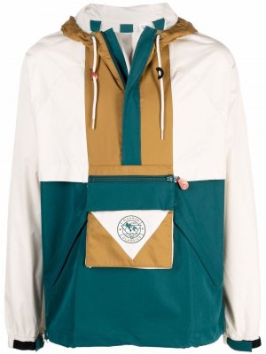 Куртка в стиле колор-блок с капюшоном Reebok. Цвет: нейтральные цвета