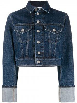 Укороченная джинсовая куртка Helmut Lang. Цвет: синий