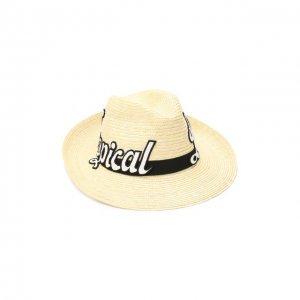 Соломенная шляпа Dolce & Gabbana. Цвет: бежевый