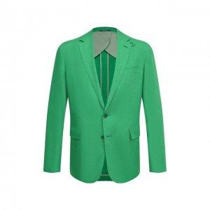Льняной пиджак Ralph Lauren. Цвет: зелёный