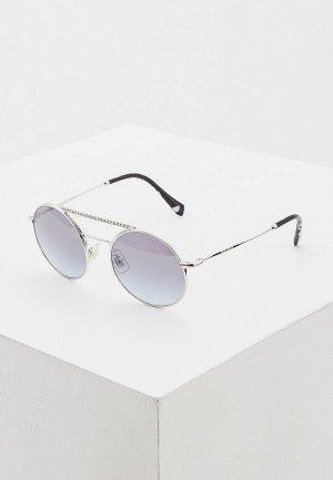 Очки солнцезащитные Miu 0MU 52VS 1BC169. Цвет: серебряный