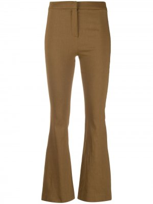Расклешенные брюки кроя слим Alysi. Цвет: коричневый