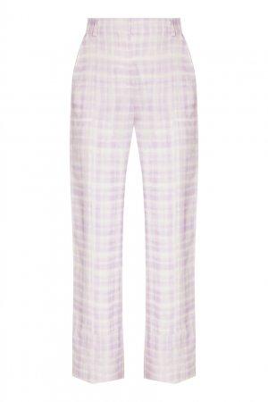 Клетчатые костюмные брюки Estero Jacquemus. Цвет: фиолетовый