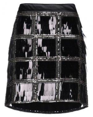 Мини-юбка CLIPS. Цвет: черный