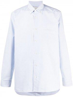 Полосатая рубашка с длинными рукавами Golden Goose. Цвет: белый
