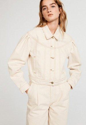 Куртка джинсовая Claudie Pierlot. Цвет: бежевый