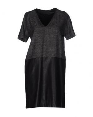 Короткое платье HOTEL PARTICULIER. Цвет: свинцово-серый