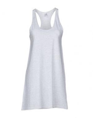 Короткое платье AMERICAN APPAREL. Цвет: светло-серый