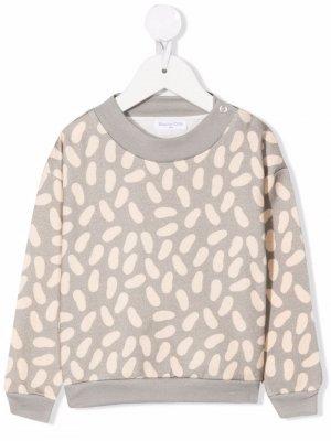 Beans-pattern crewneck sweater Studio Clay. Цвет: серый