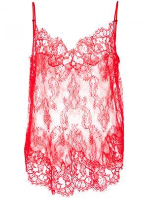 Lace camisole Givenchy. Цвет: красный