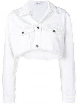 Укороченная джинсовая куртка Givenchy. Цвет: белый