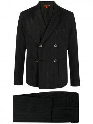 Костюм с двубортным пиджаком Barena. Цвет: черный