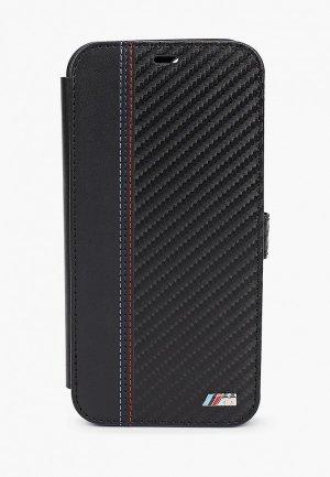 Чехол для iPhone BMW 12 Pro Max (6.7), PU Smooth/Carbon effect Black. Цвет: черный