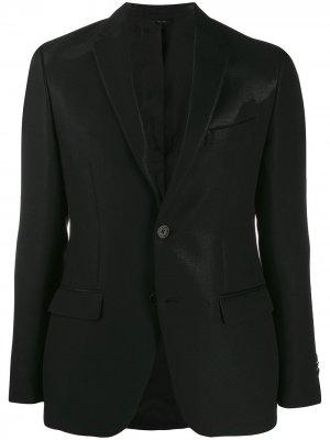 Однобортный блейзер Fendi. Цвет: черный