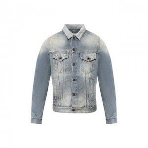 Джинсовая куртка Off-White. Цвет: синий