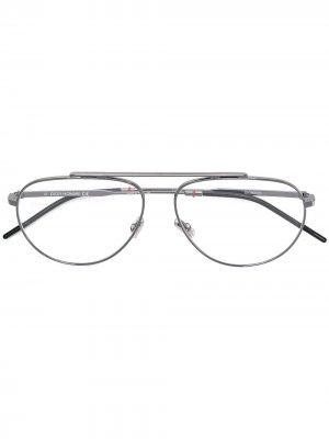 Oval frame glasses Dior Eyewear. Цвет: золотистый