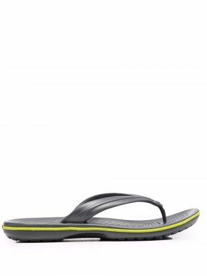 Шлепанцы Crocband Crocs. Цвет: серый