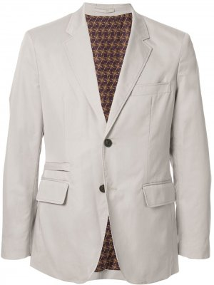 Однобортный пиджак Kent & Curwen. Цвет: серый