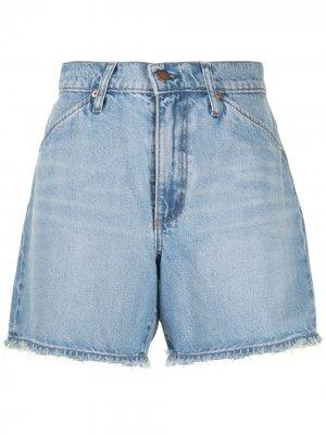 Джинсовые шорты Erin с завышенной талией Nobody Denim. Цвет: синий