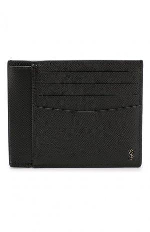 Кожаный футляр для кредитных карт Serapian. Цвет: черный