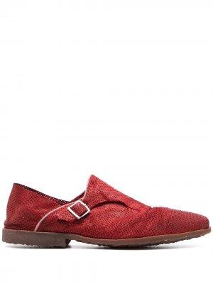 Туфли монки с перфорацией Premiata. Цвет: красный