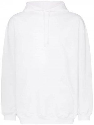 Джемпер оверсайз с капюшоном и логотипом Balenciaga. Цвет: белый