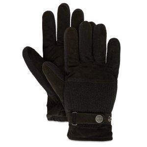 Перчатки, варежки, муфты Ribbed Back Glove Timberland. Цвет: черный