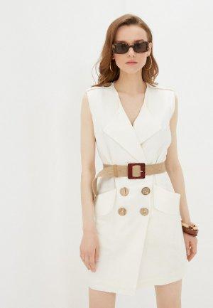 Платье Katya Erokhina. Цвет: белый