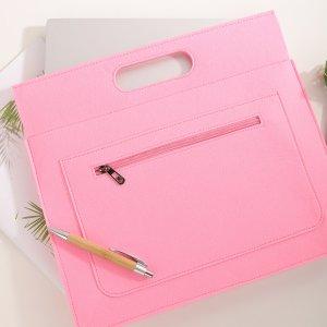 13-дюймовая сумка для ноутбука SHEIN. Цвет: розовые