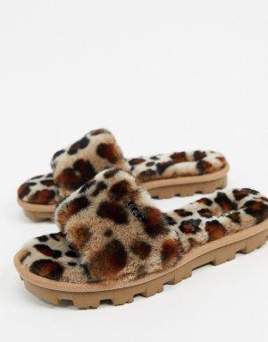 Слиперы с леопардовым принтом Cozette-Мульти UGG