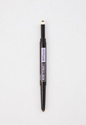 Карандаш для бровей Maybelline New York EXPRESS BROW SATIN, оттенок 01, Темный блонд. Цвет: бежевый