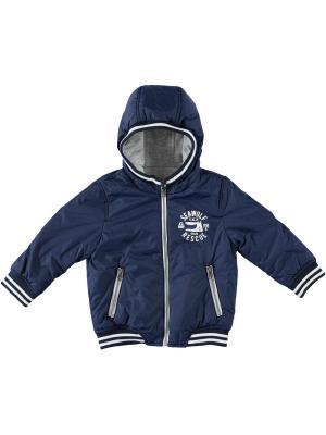 Куртка IDO. Цвет: темно-синий, серый