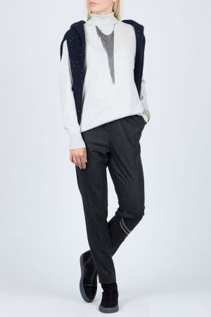 Светло-серый пуловер Fabiana Filippi. Цвет: белый