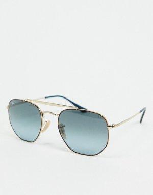 Солнцезащитные очки‑авиаторы в золотистой оправе Rayban-Золотой Ray-Ban