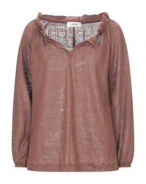 Блузка ALPHA STUDIO. Цвет: коричневый