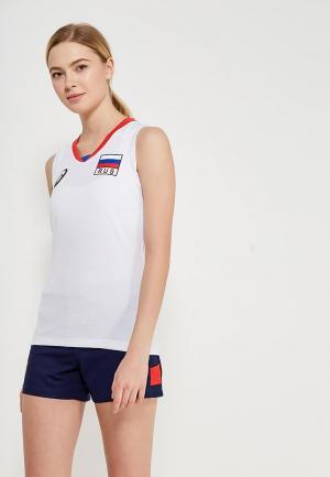 Майка спортивная ASICS WOMAN RUSSIA SLEEVELESS TEE. Цвет: белый