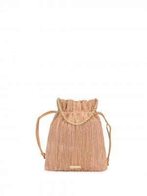 Плиссированная мини-сумка Sibyl Loeffler Randall. Цвет: коричневый