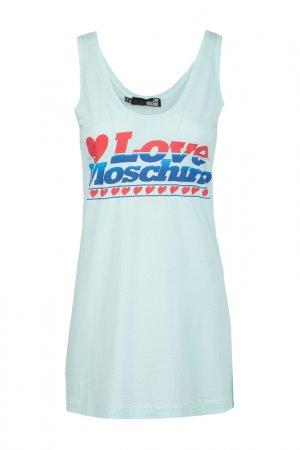 Майка Love Moschino. Цвет: зеленый