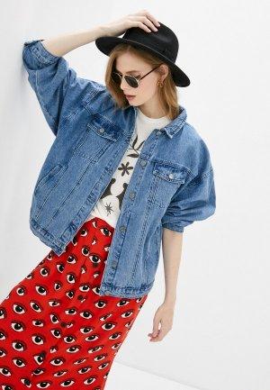 Куртка джинсовая RVCA LOUNGER DENIM JACKET. Цвет: синий