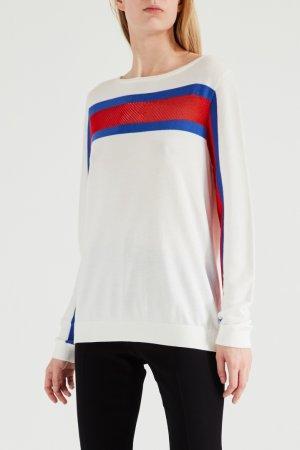 Белый пуловер с полосами Tommy Hilfiger
