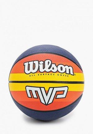 Мяч баскетбольный Wilson MVP MINI RETRO BSKT ORYE. Цвет: разноцветный